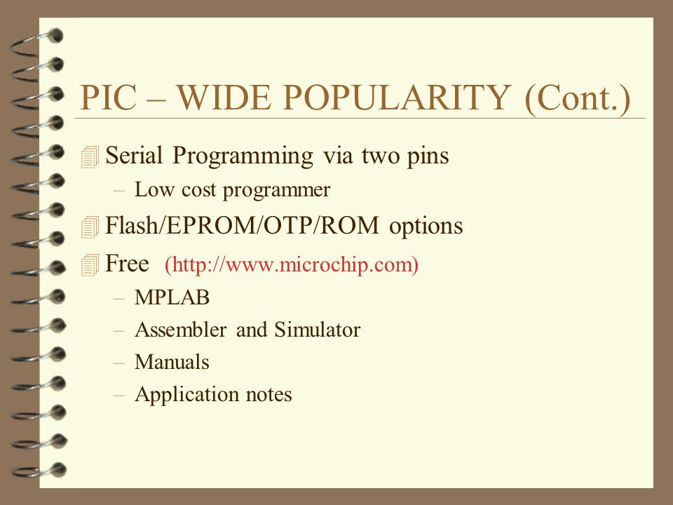 CHAPTER I A PIC Microcontroller Framework Introduction 4