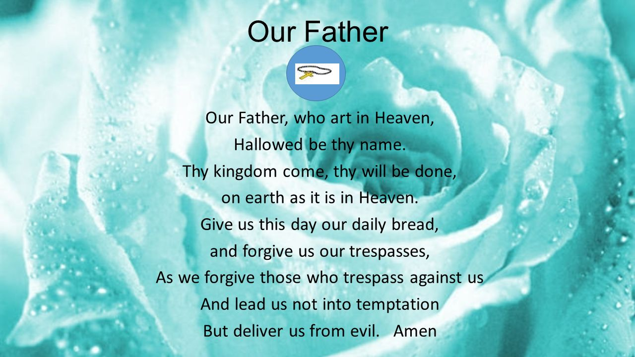 the circles of rosary opening prayer in the name of the father of