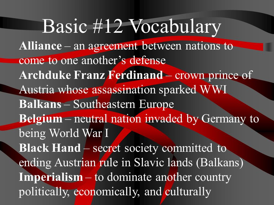 Alliance An Agreement Between Nations To Come To One Anothers