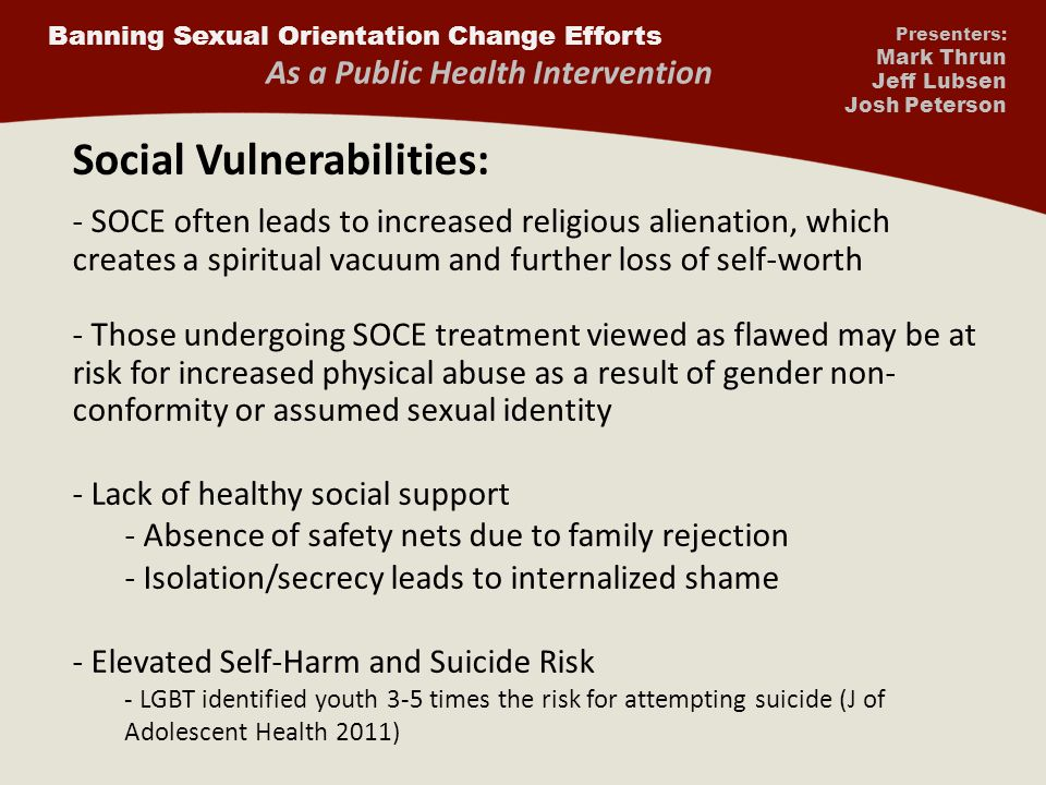 Sexual orientation change efforts results