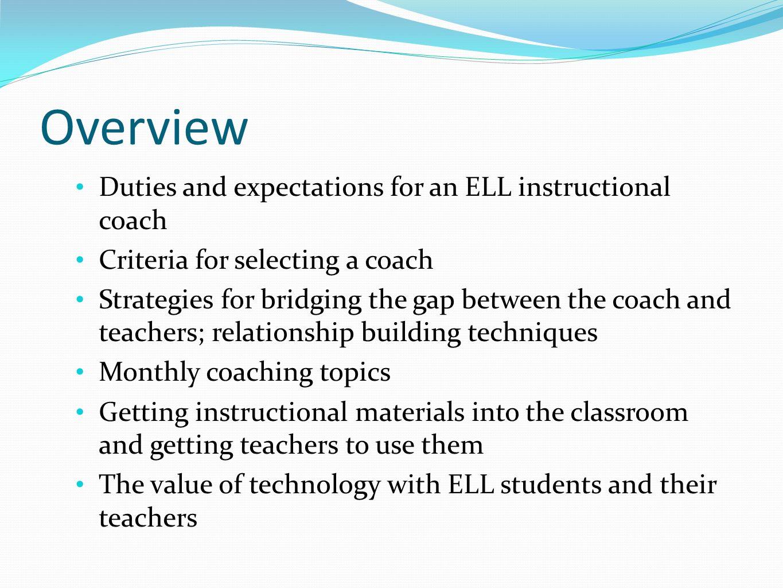 Instructional Coaching Coaching For Teachers Of English Language
