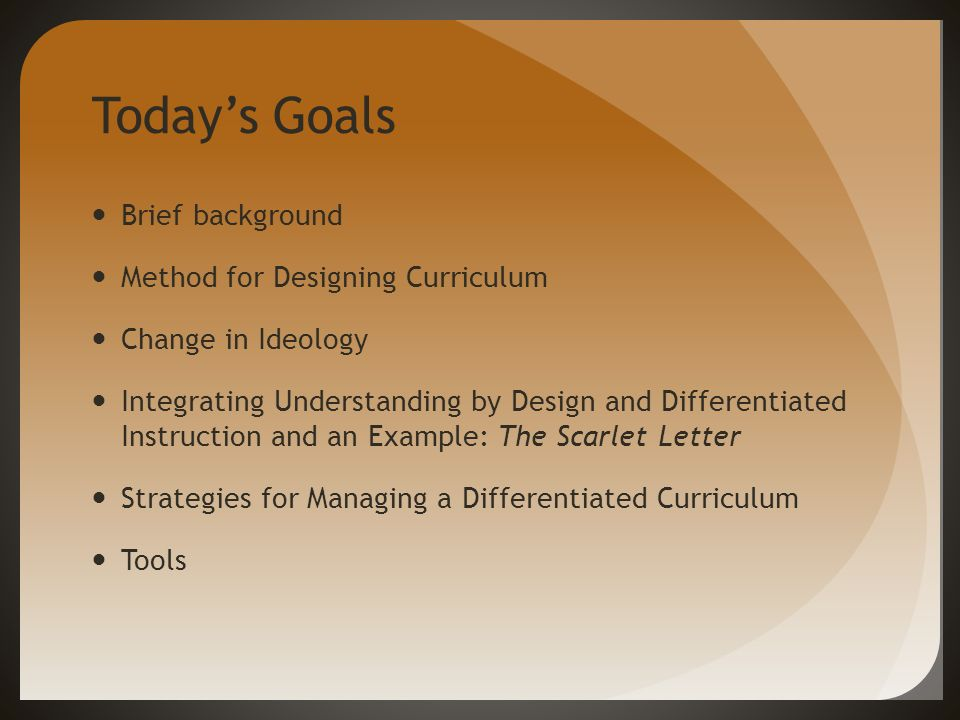 Using Differentiation In The Secondary English Classroom A Method For Designing And Managing Differentiated Curriculum A Presentation By Tracy Olson Moran Ppt Download