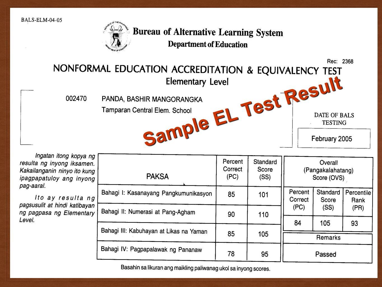 Accreditation Equivalency Program Barangay Literacy Worker Program