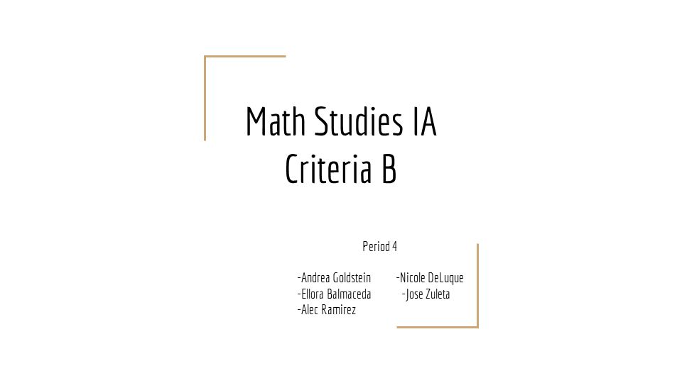 math ia criterion Criterion e: use of mathematics communication mathematical reflection engagement 2 the exploration the mathematical there is evidence there is evidence some relevant mathematics is.