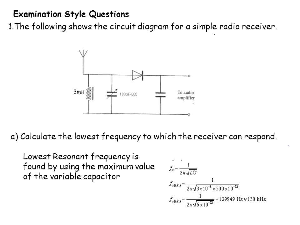 4 4 1 the simple am receiver learning objectives at the end of the following shows the circuit diagram for a simple radio receiver publicscrutiny Image collections