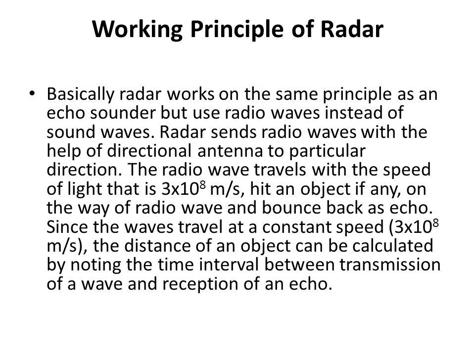 Direction finder  RADAR (Radio Detecting And Ranging) RADAR
