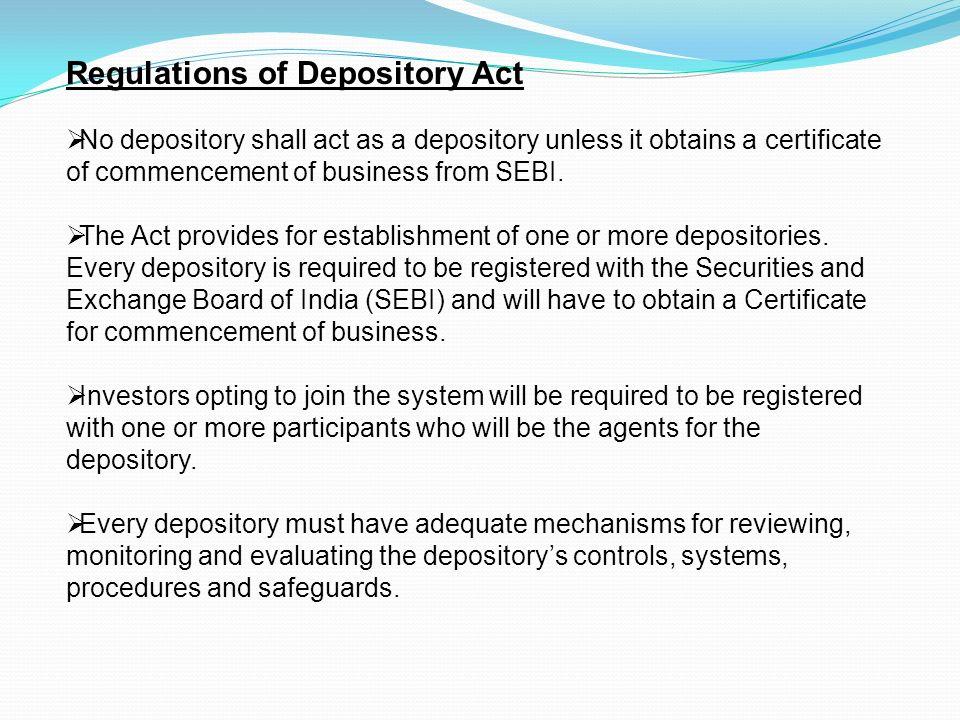 depository system definition