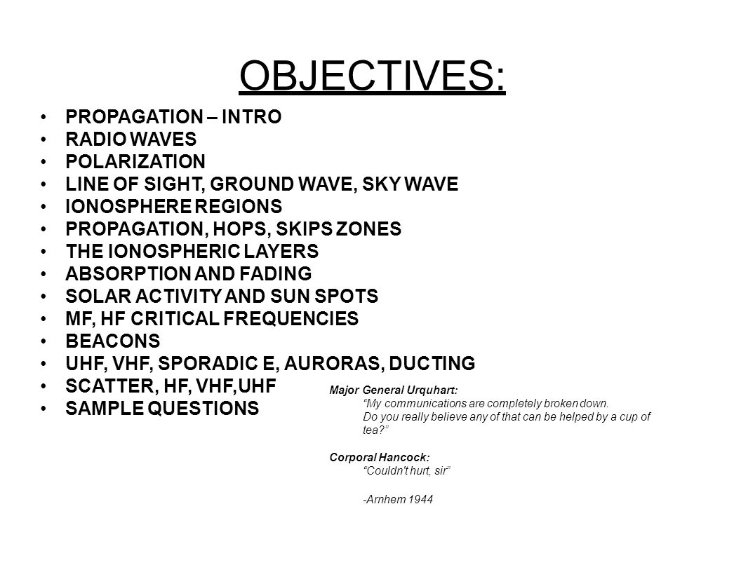 "RADIO WAVE PROPAGATION  REFERENCES ""Almost Everything You"