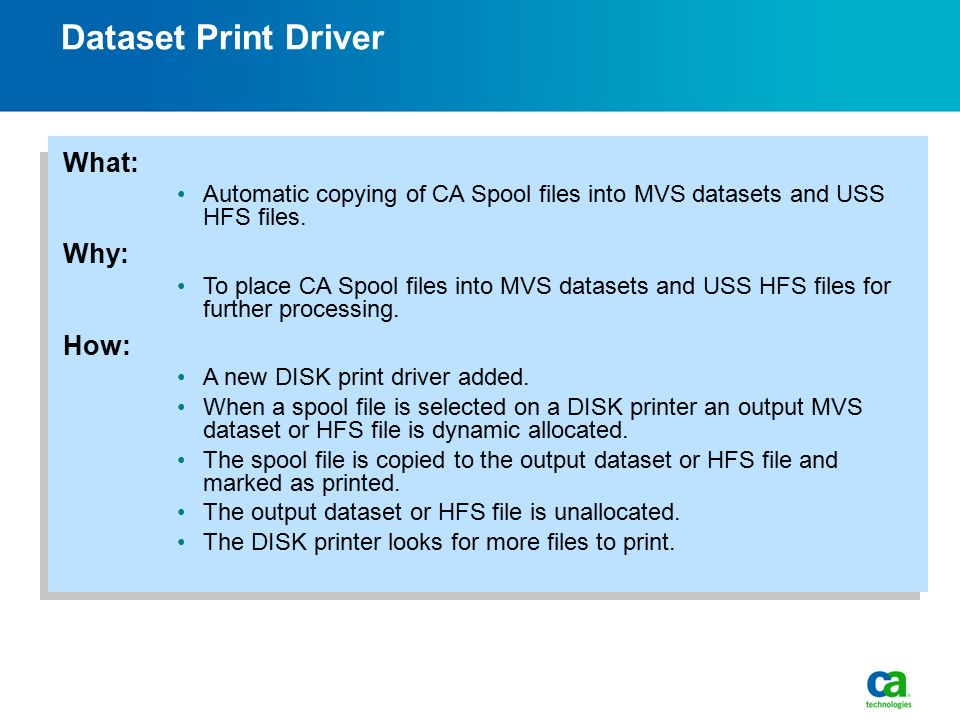 Session Change CA Spool Review Welcome CA Enterprise Report