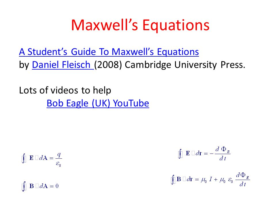 maxwell s equations a student s guide to maxwell s equations a rh slideplayer com a student's guide to maxwell's equations a student's guide to maxwell's equations pdf download