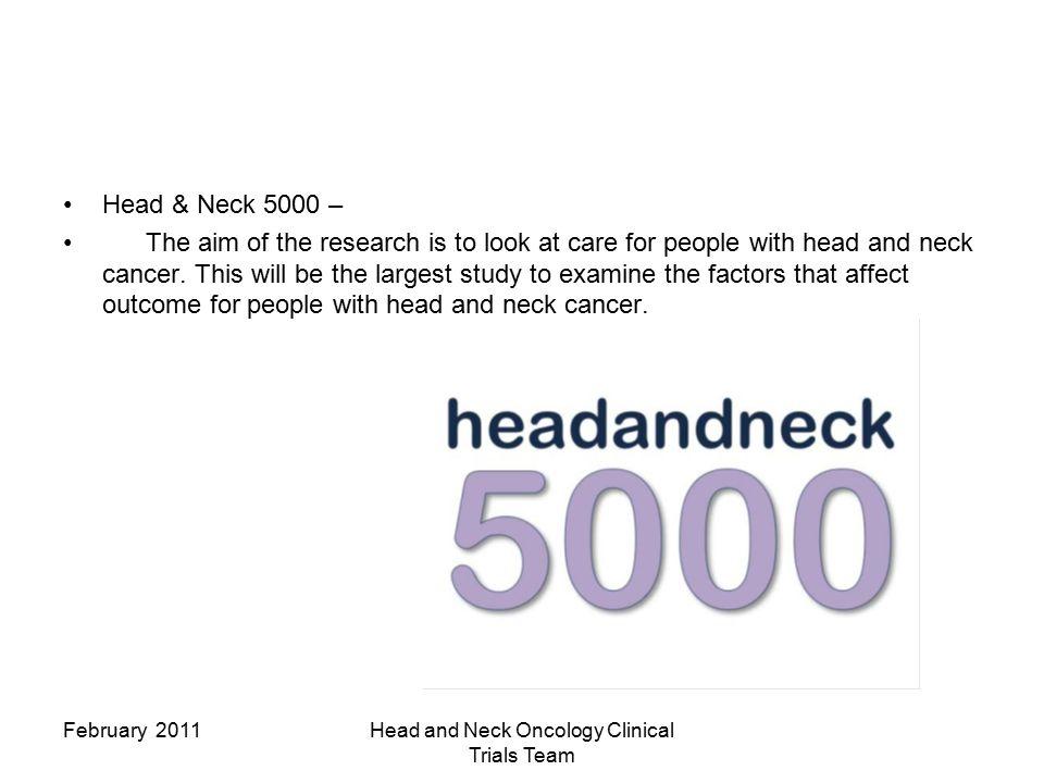 Aintree Head & Neck Unit Practice Development Unit Research