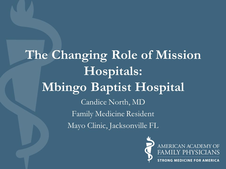 The Changing Role of Mission Hospitals: Mbingo Baptist