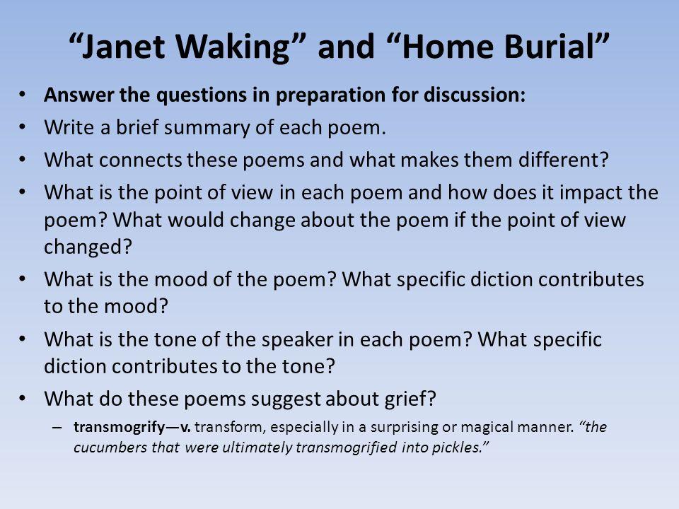 home burial summary
