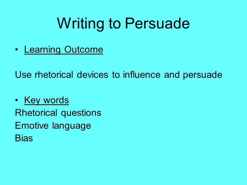 rhetorical styles in writing