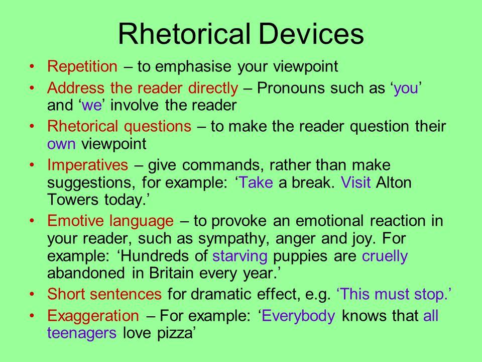 rhetorical techniques in writing
