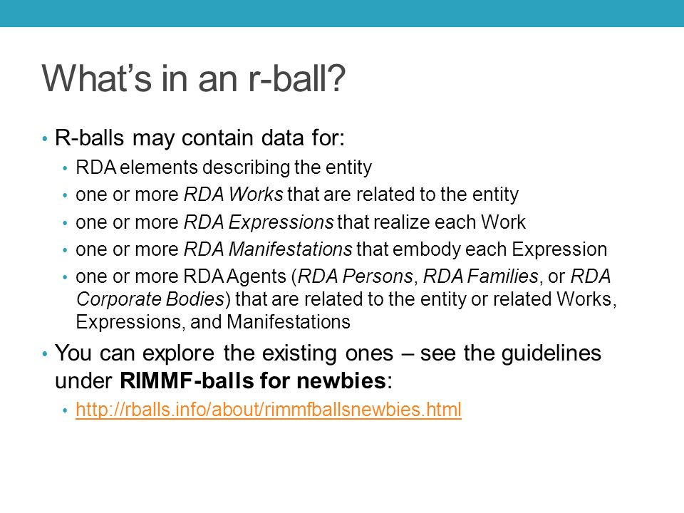What's in an r-ball.