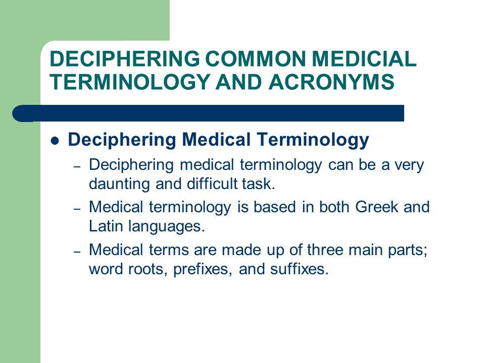 MEDICAL TERMINOLOGY AND DOCUMENTATION PRIMER By: Jennifer