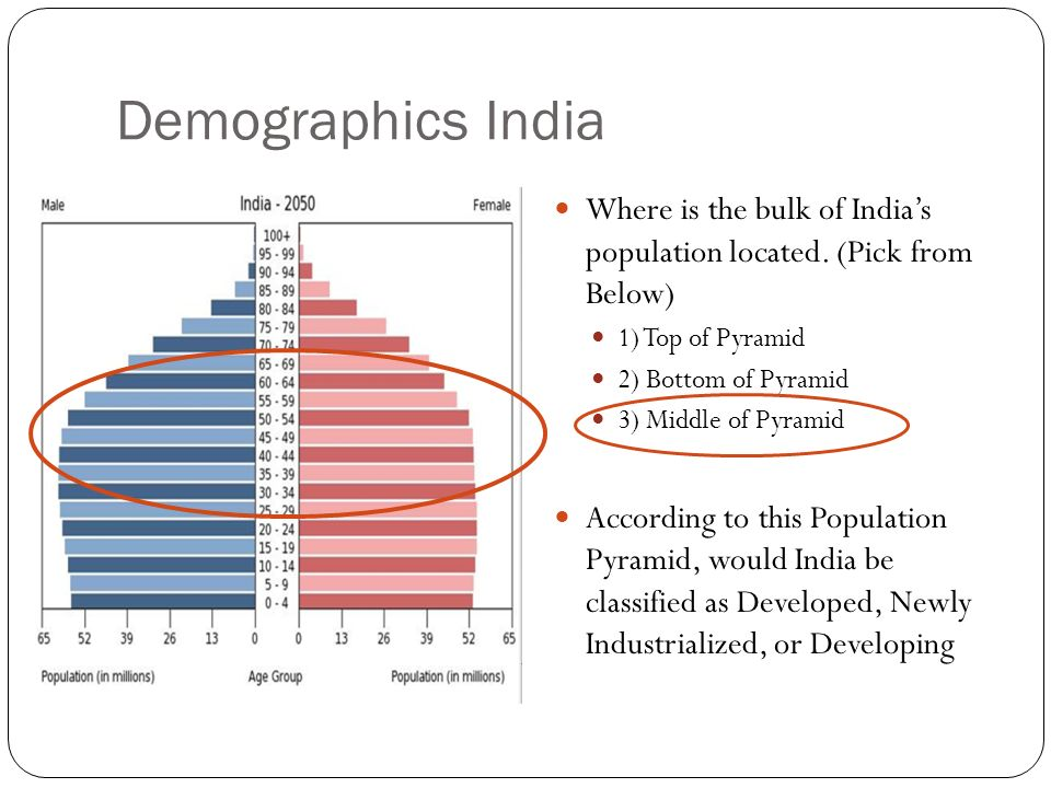 Demographics India Where is the bulk of India's population located.