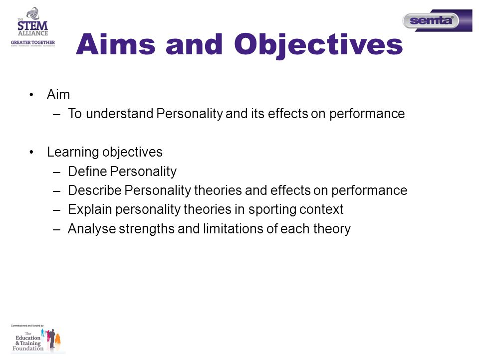 explain the effects of personality on sports performance