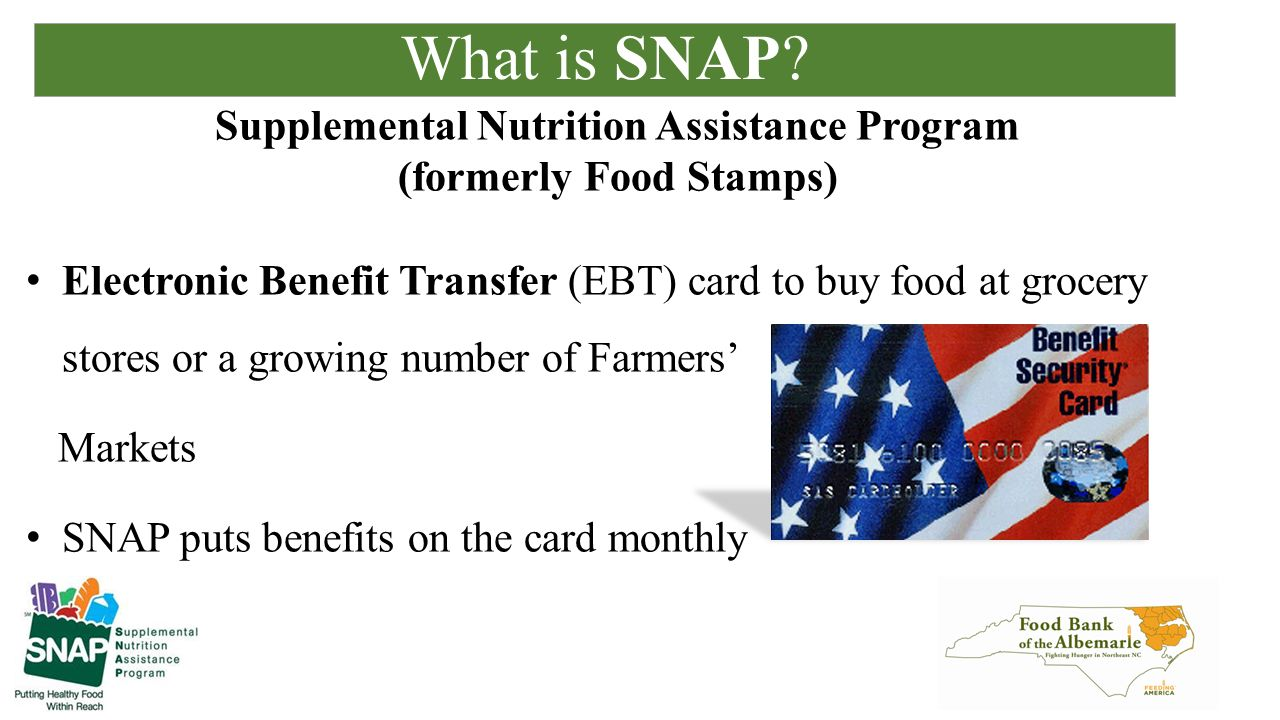 Food Bank of the Albemarle SNAP Outreach Program  - ppt download