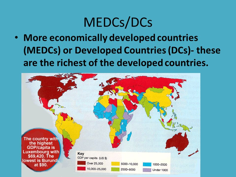 economically developed countries