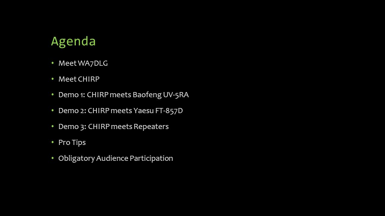 Understanding & Using CHIRP (and Liking It) Devin L  Ganger, WA7DLG