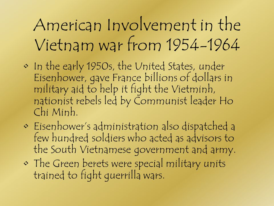 americas involvement in vietnam essay American involvement in vietnam war the novel morning glories among the peas was written by james d seddon, a mechanic and expert surveillance personnel of the us army he was one of the us soldiers who was involved in the vietnam war.
