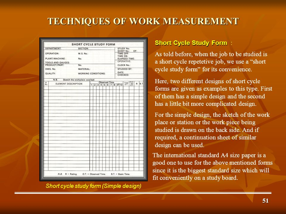 Work Study Work Measurement Part Ii Techniques Ppt Download