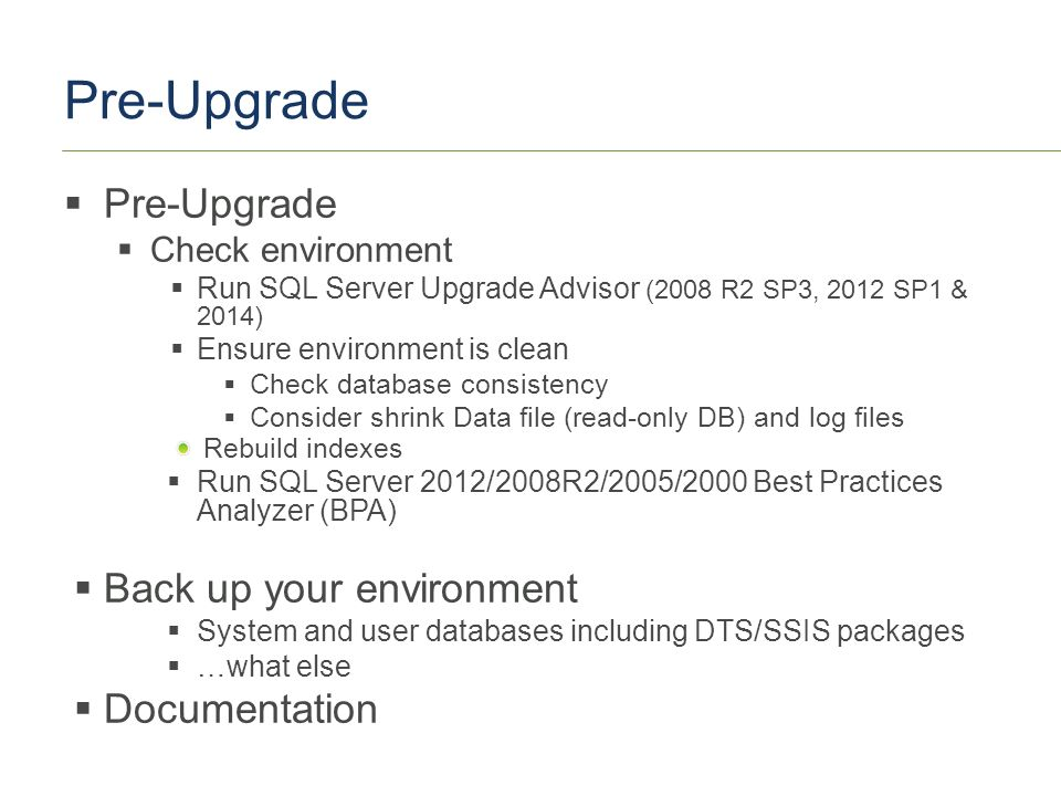 What do I need to know about SQL Server platform upgrade
