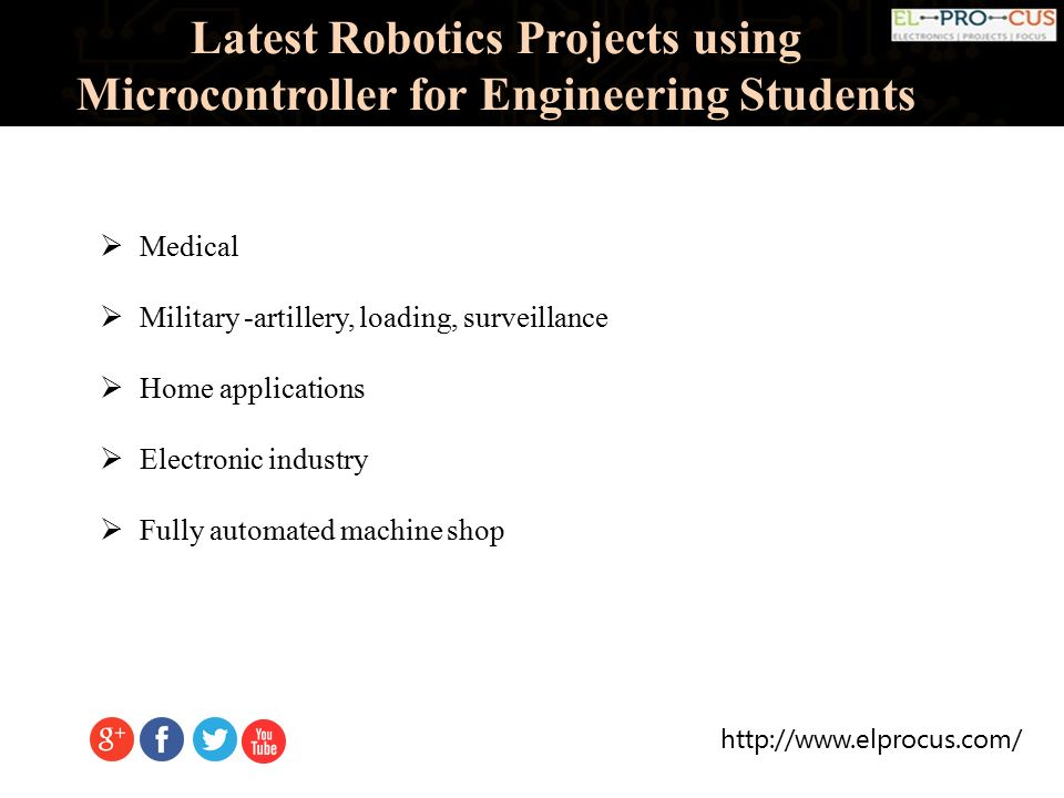 Latest Robotics Projects Using Microcontroller For Engineering ...
