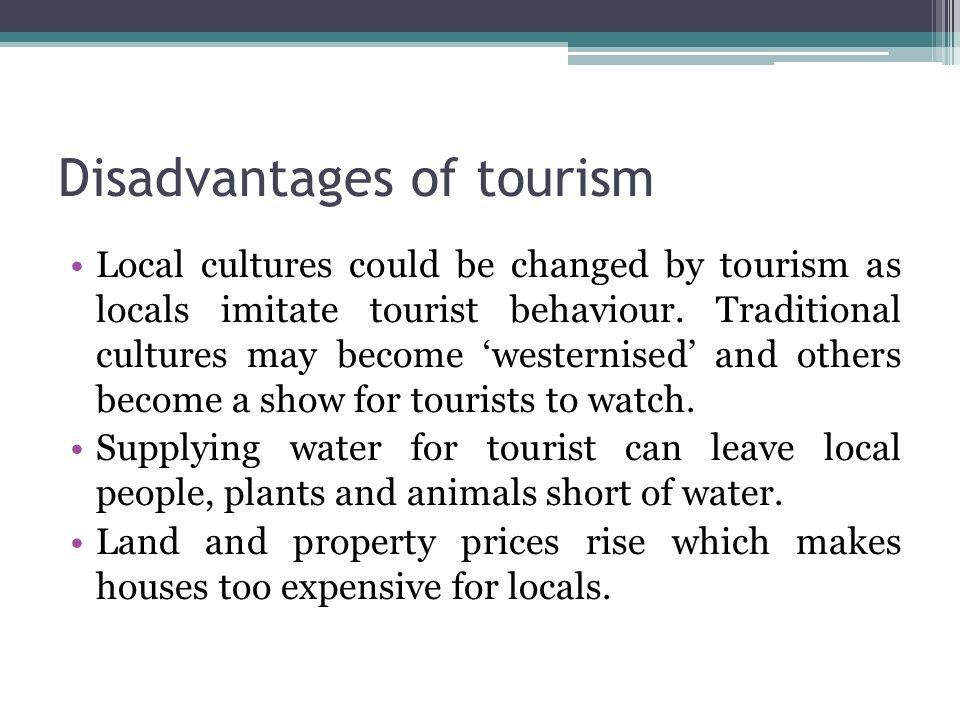 disadvantages of tourism