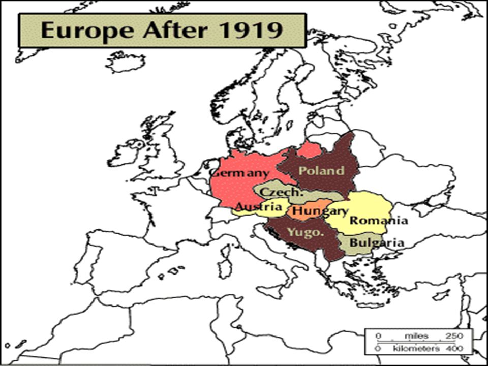 Europe 1939 How did post-World War I Europe set the stage for World ...