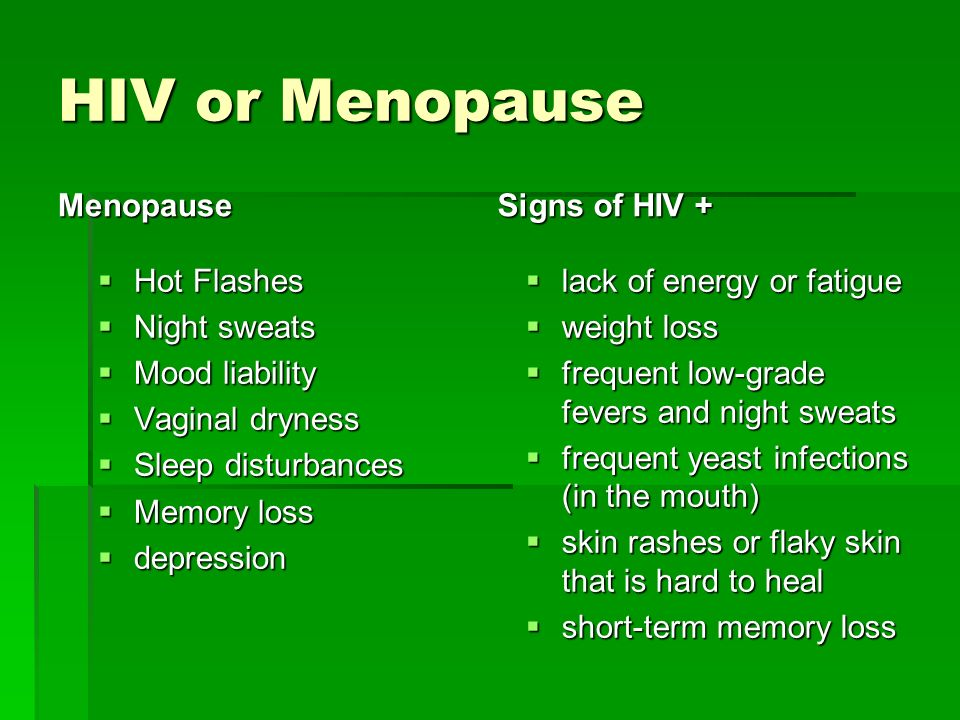 Menopause yeast infection
