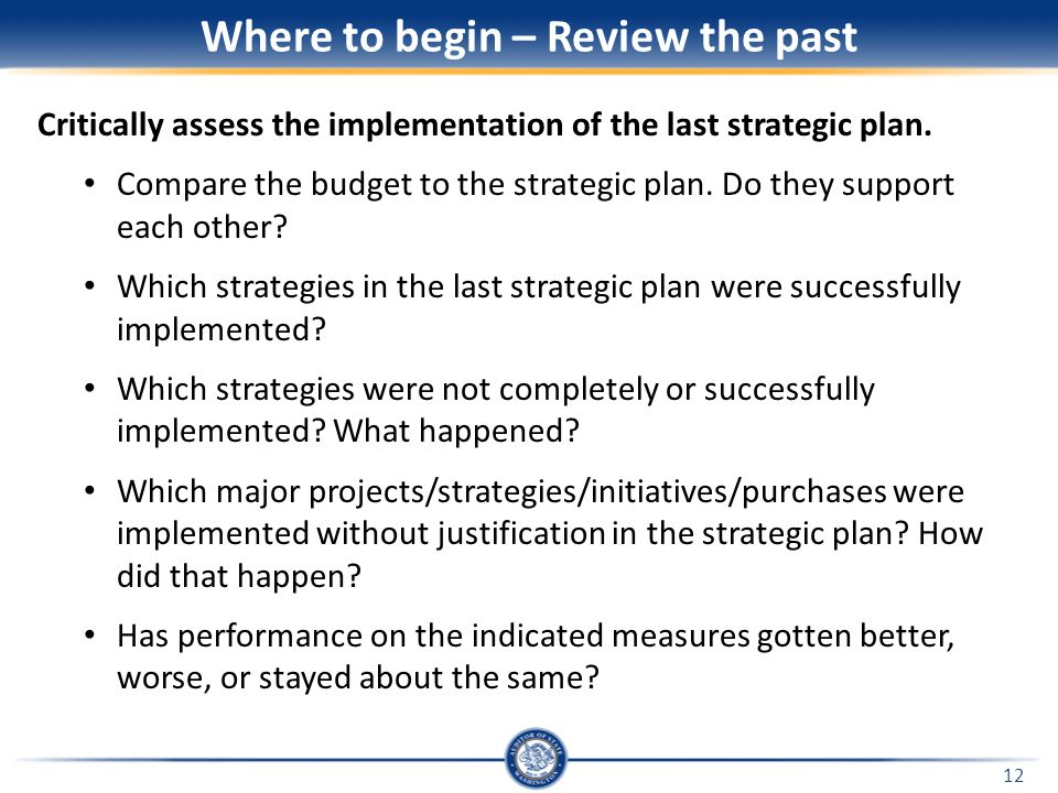 Developing and Implementing a Strategic Plan Pierce County