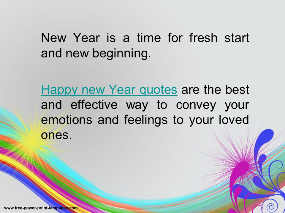 2 new year is a time for fresh start