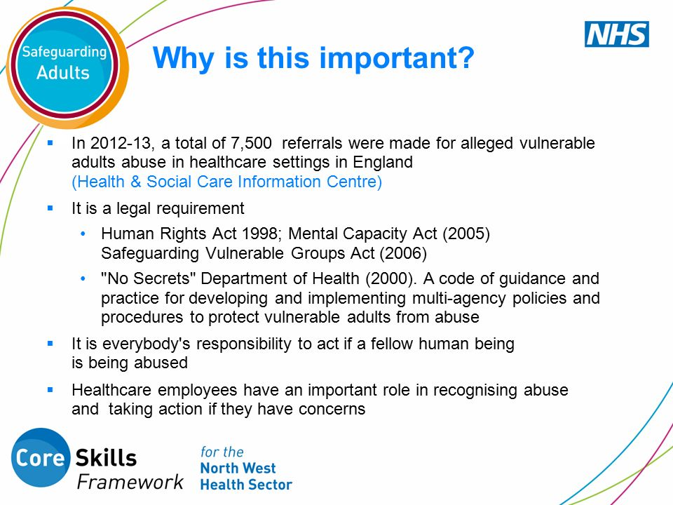 abuse in health and social care settings