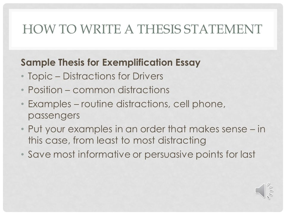 how to write a thesis statement for an exemplification essay  english composition five paragraph essay structure ppt exemplification