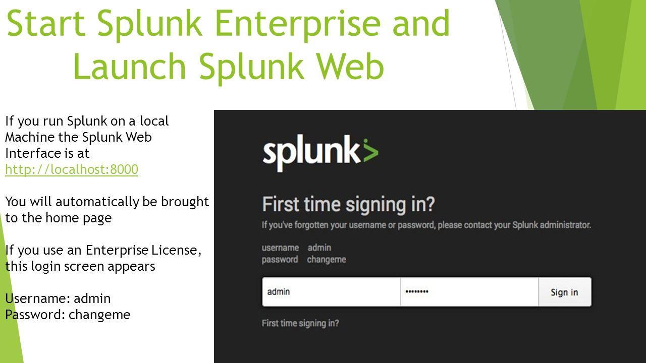 Splunk Enterprise Instructor: Summer Partain 3 Day Course  - ppt