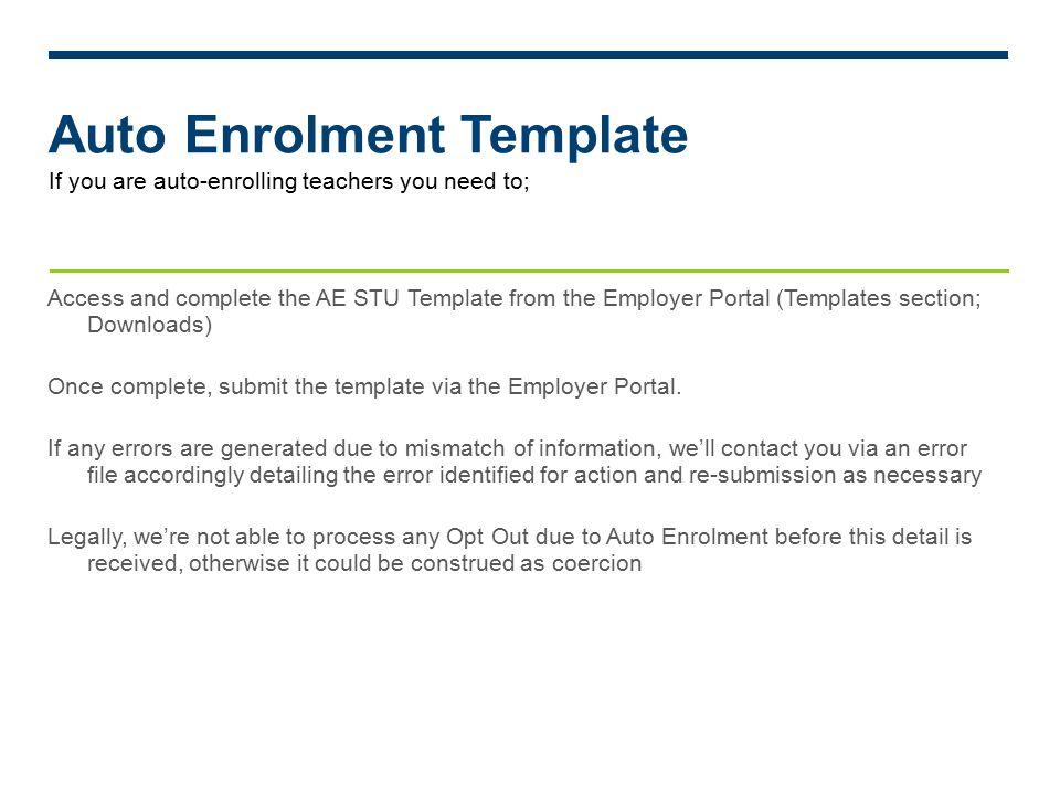 Auto enrolment v14 teachers pensions scheme contractual enrolment 17 auto enrolment template spiritdancerdesigns Gallery
