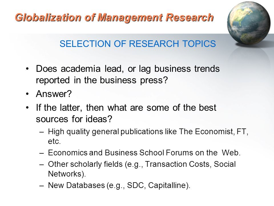 Globalization of Management Research Farok J  Contractor