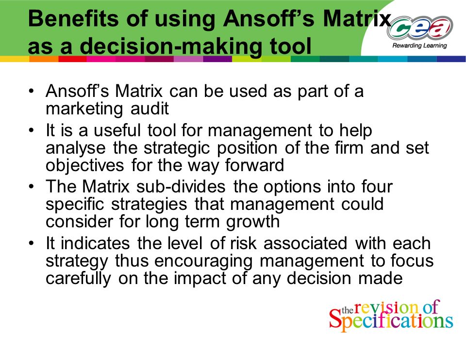 limitations of ansoff matrix