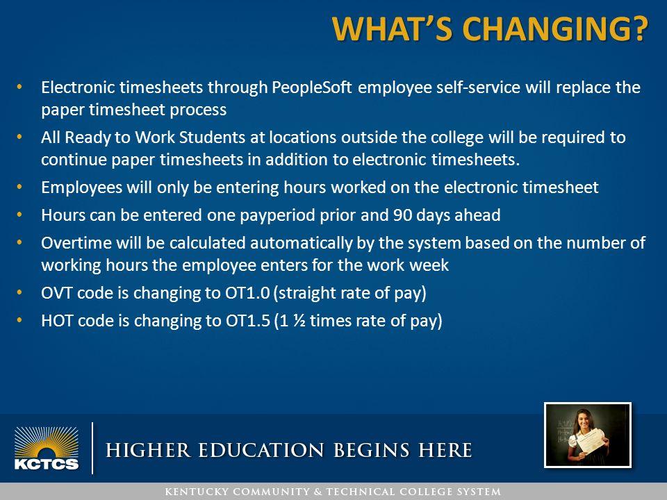 peoplesoft timesheet supervisor training kctcs payroll jefferson