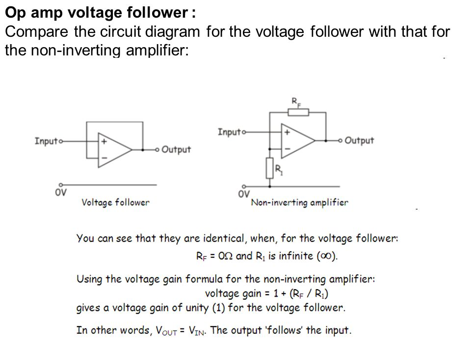 5 6 audio systems which includes 5 6 1pre amplifiers mixer 16 op amp voltage follower compare the circuit diagram for the voltage follower with that for the non inverting amplifier ccuart Gallery