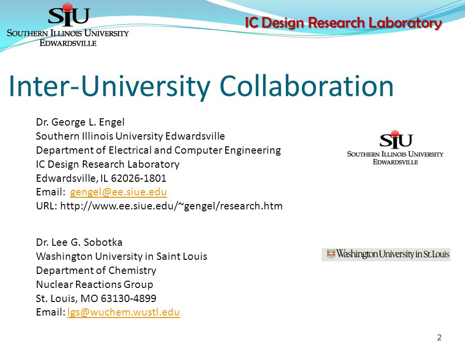 ic design research laboratory dr george l engel department of