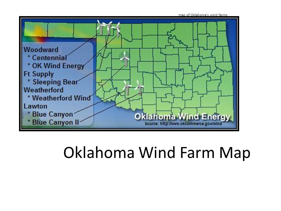 Oklahoma Wind Map.100 Wind Power In Oklahoma Wikipedia Windexchange Wind Energy In