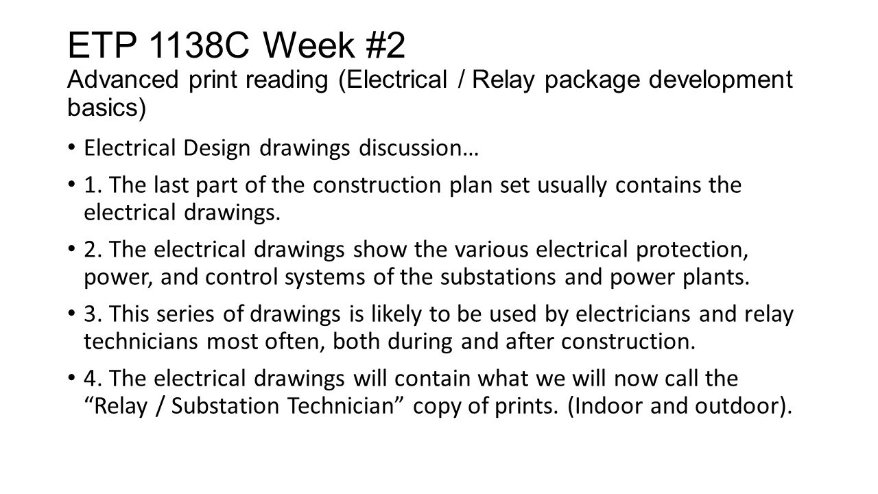 ETP 1138C Week #2 Advanced print reading basics (Types of ... on home electrical drawings, autocad electrical drawings, reading electrical diagrams, electrical details drawings, reading electrical blueprints, reading electrical schematics, reading single line diagrams, reading electrical prints, reading electrical symbols, electrical switch gears electrical control drawings, electrical technical drawings, commercial electrical drawings, building electrical drawings, understanding electrical drawings, electrical layout drawings, house electrical drawings,