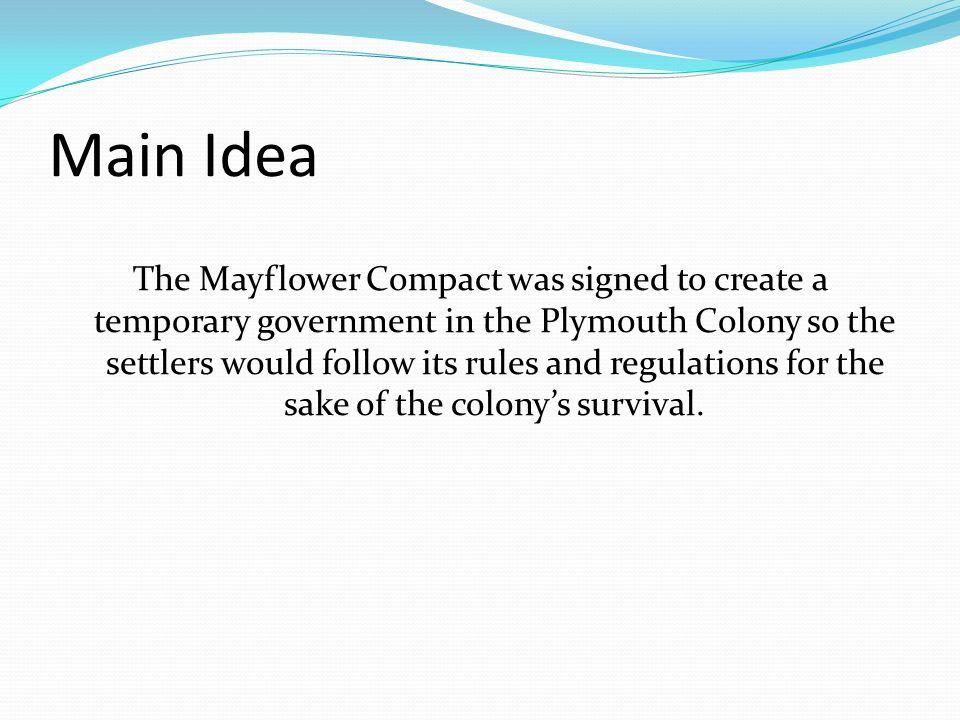 main idea of the mayflower compact