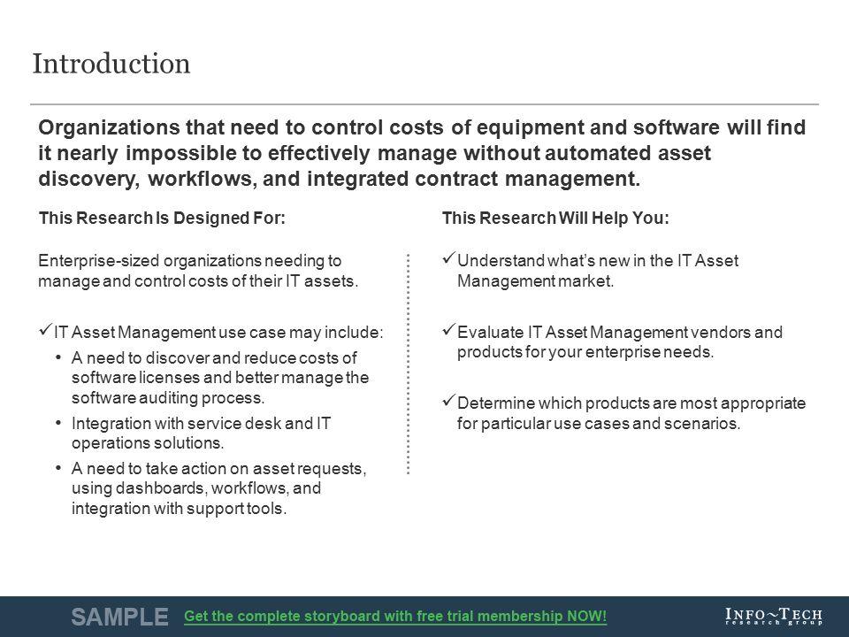 1Info-Tech Research Group Vendor Landscape: IT Asset