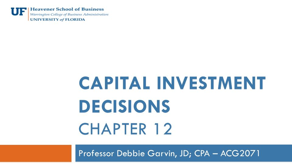 Capital investment decisions techniques salon research on real estate investment