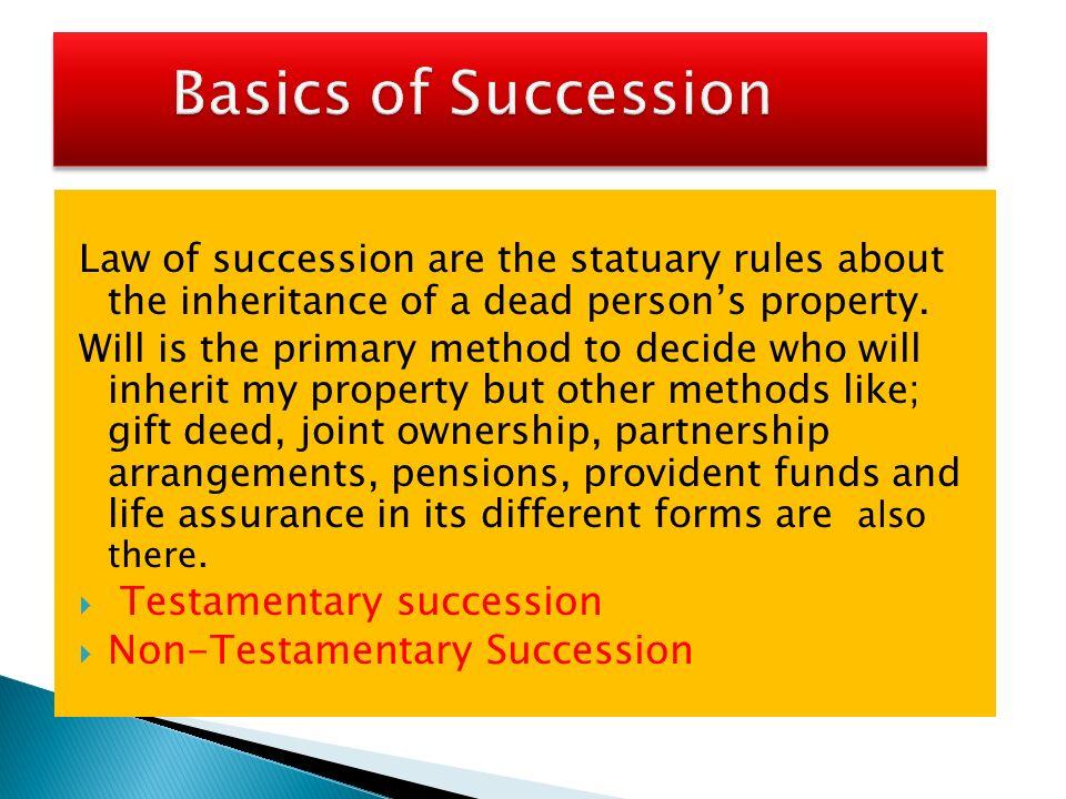 testamentary succession